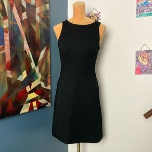 ANNIE GRIFFIN black stretchy scuba knit dress